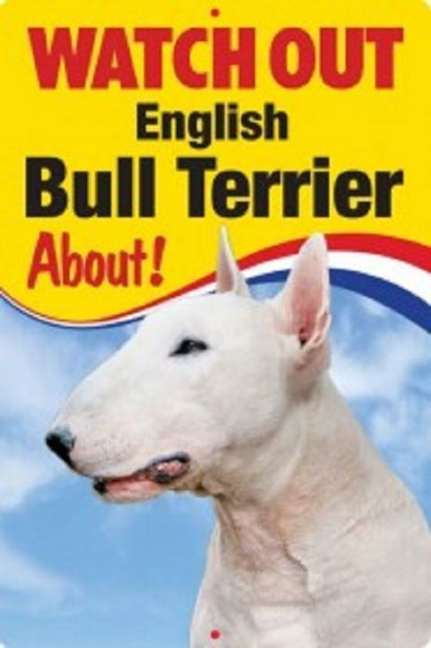 ENGLISH BULL TERRIER 3D  DOG SIGN